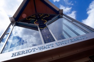 Heriot-Watt university's Edinburgh campus entrance