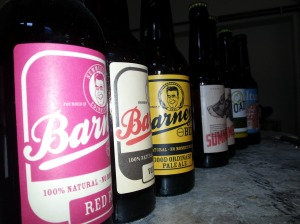 A selection of Barney's Beer