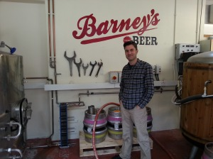 Andrew Barnett in Edinburgh's only microbrewery, Barney's Beer