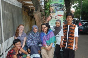 With ZSL colleagues in Indonesia