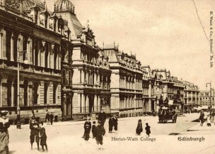 Heriot-Watt at Chambers Street in the early 1900's.