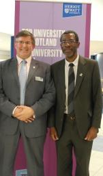 Keith with Watt Club Vice-President, Norman Chipakupaku