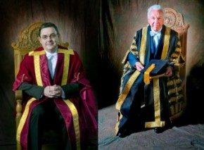 (L) Vice Chancellor, Professor Steve Chapman (r) Chancellor Robert M. Buchan